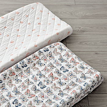 Set of 2 Butterfly Changing Pad Covers