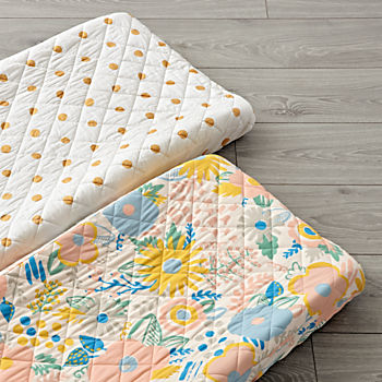 Set of 2 Floral Rush Changing Pad Covers