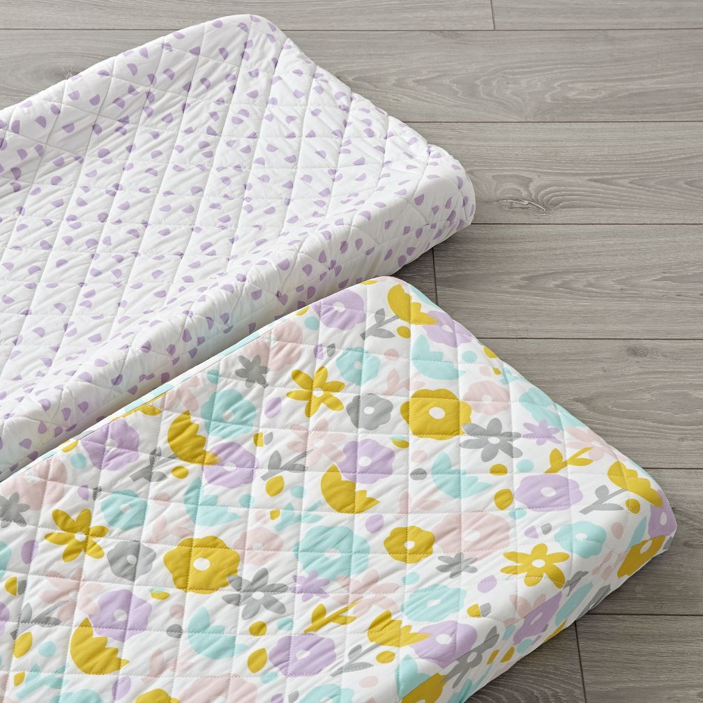 Set of 2 Floral Suite Changing Pad Covers