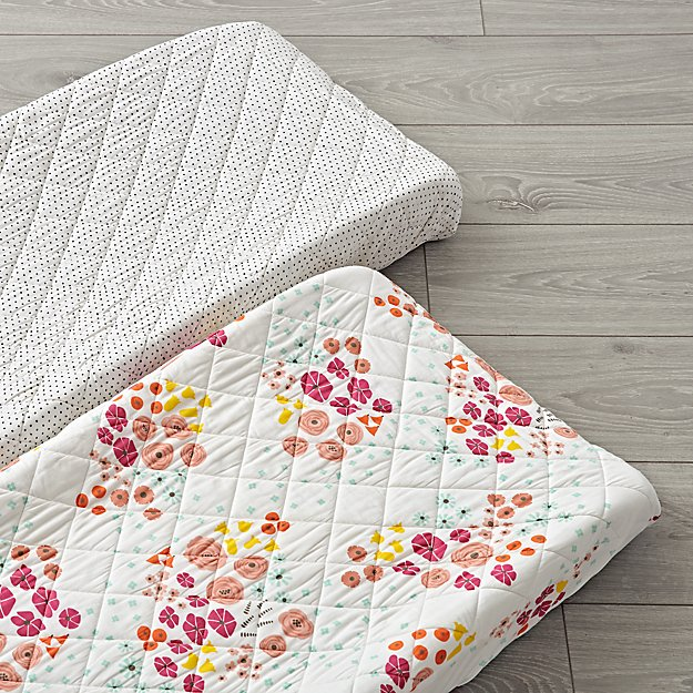 Set of 2 Flower Show Changing Pad Covers