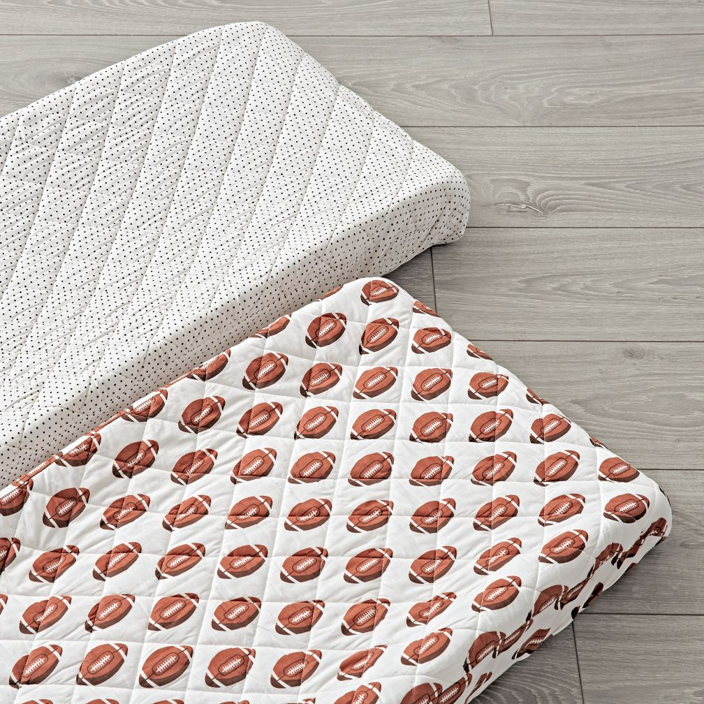 Set of 2 Football Changing Pad Covers