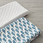 Set of 2 High Seas Blue Changing Pad Covers
