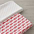 Set of 2 High Seas Red Changing Pad Covers