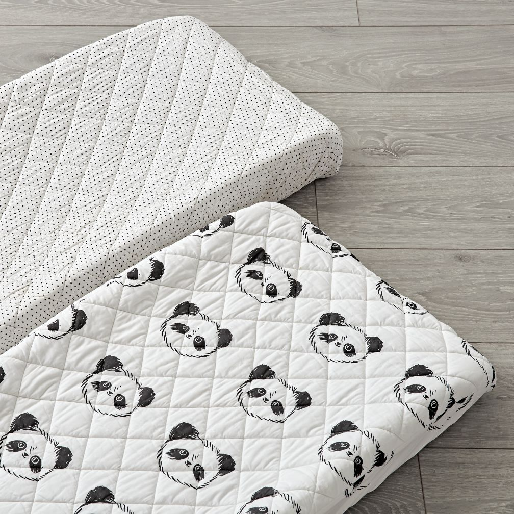 Set of 2 Panda Changing Pad Covers