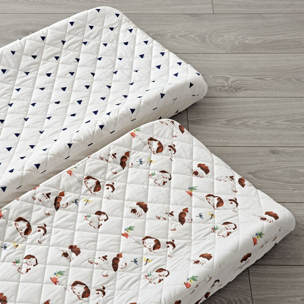 Set of 2 Poky Little Puppy Changing Pad Covers