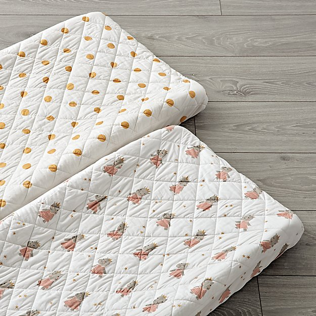 Set of 2 Royal Hippo Changing Pad Covers