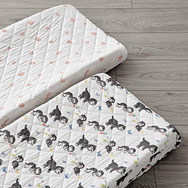 Set of 2 Shy Little Kitten Changing Pad Covers