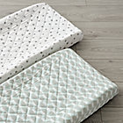 Set of 2 Well Nested Blue Changing Pad Covers