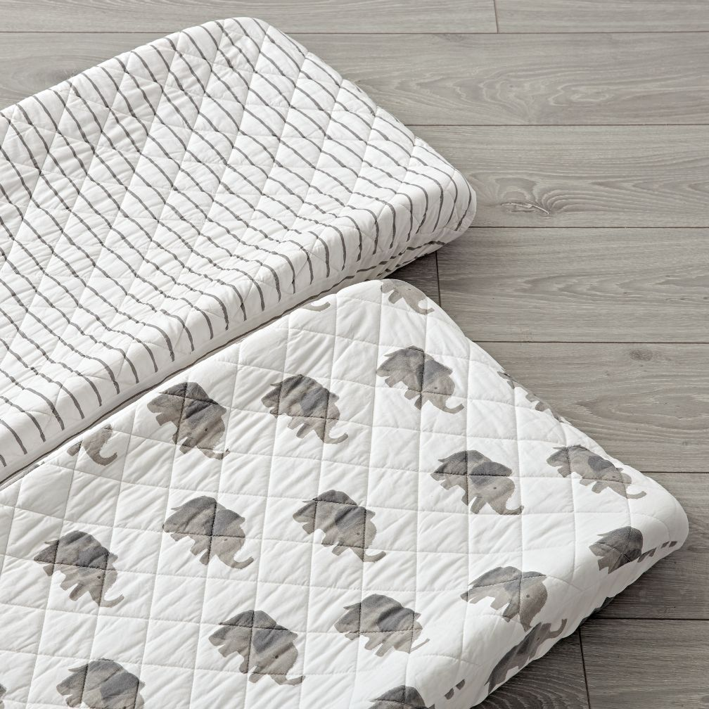 Set of 2 Wild Excursion Grey Changing Pad Covers
