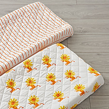 Set of 2 Wild Excursion Orange Changing Pad Covers
