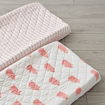 Set of 2 Wild Excursion Pink Changing Pad Covers