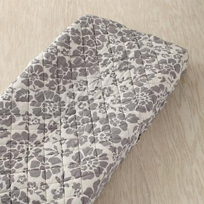 Dream Girl Changing Pad Cover (Grey Floral)