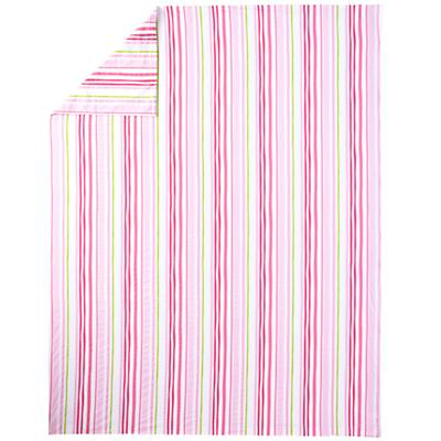 Full-Queen Citrus Stripe Duvet Cover (Pink)