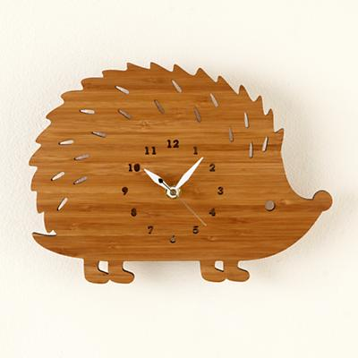 Hedgehog On Forest Time Wall Clock