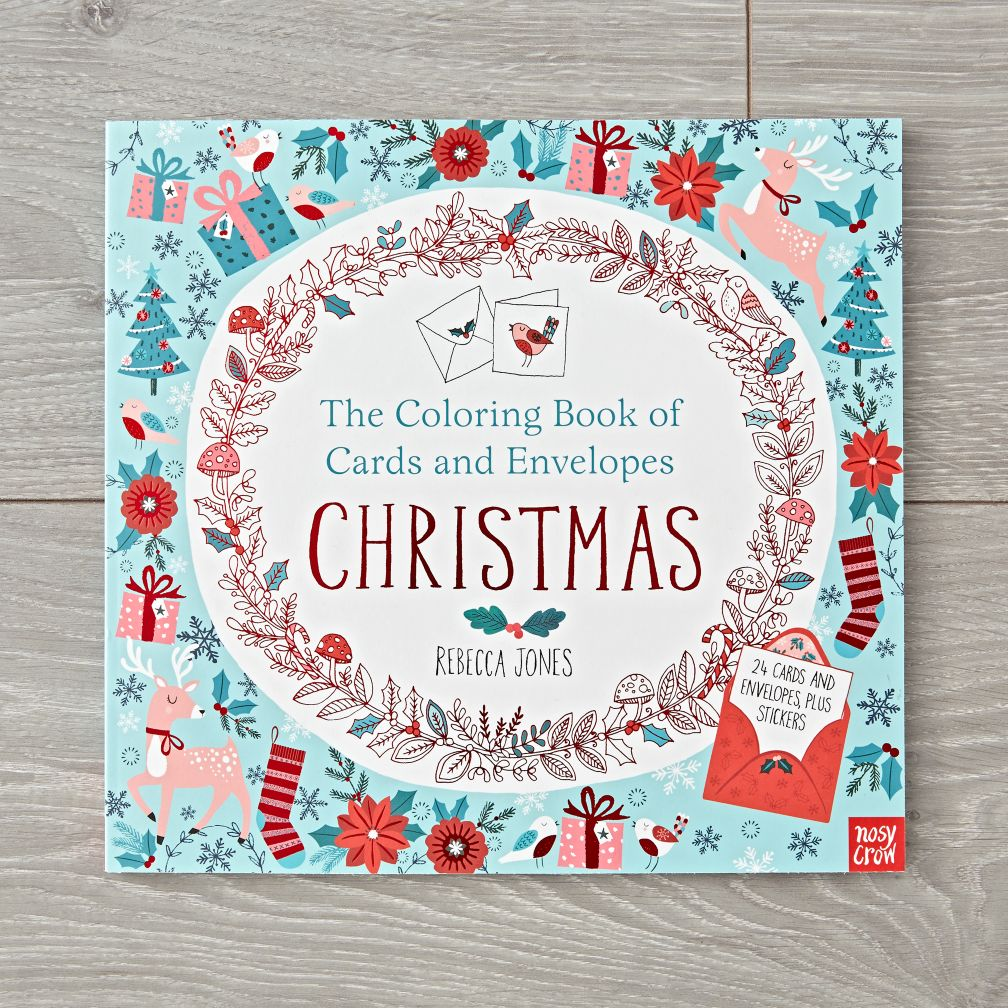 Christmas Card Coloring Book