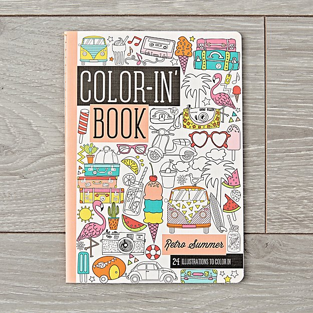 Retro Summer Travel Coloring Book
