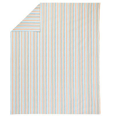 Twin Multi Stripe Construction Duvet Cover