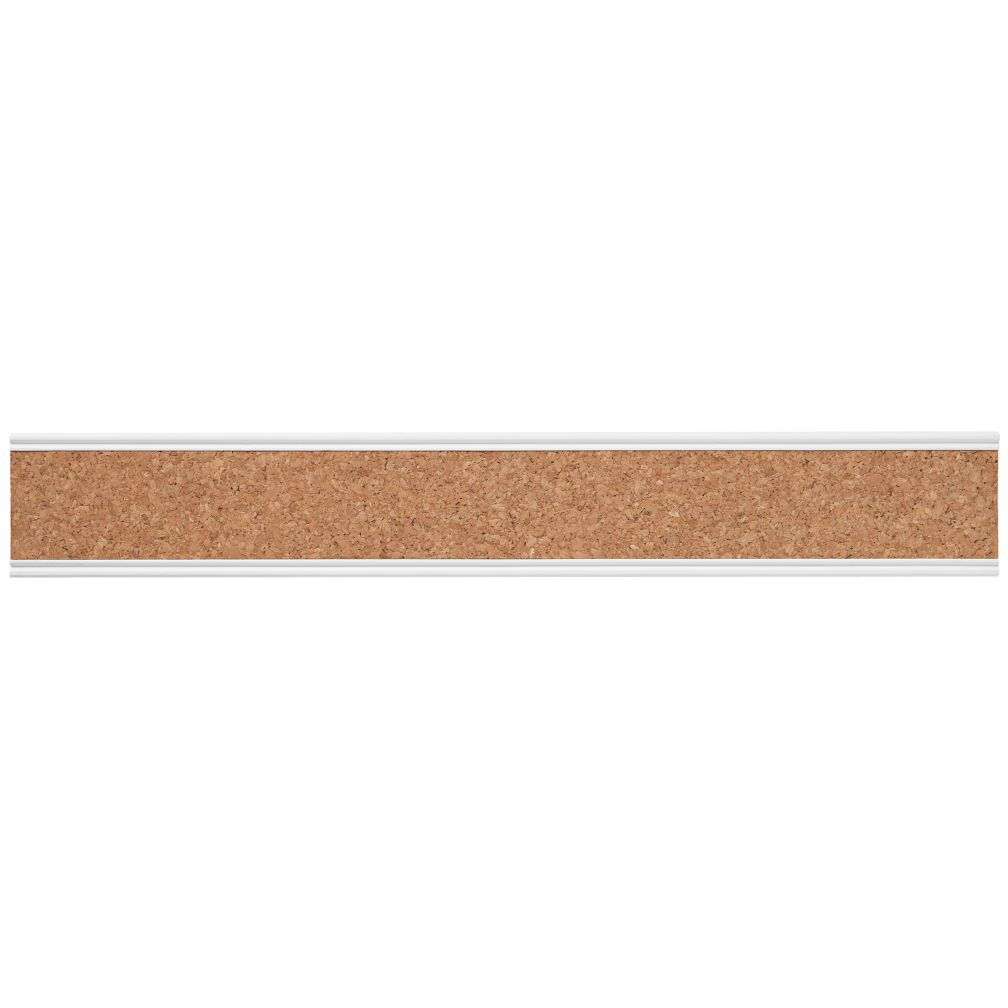 Straight & Narrow Cork Rail (White)