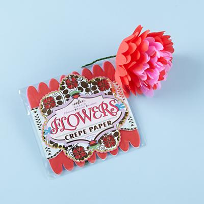 Red Paper Flowers Kit