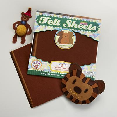 Brown Bear Felt Sheets Set