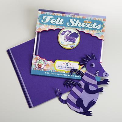 Dragon Purple Felt Sheets Set