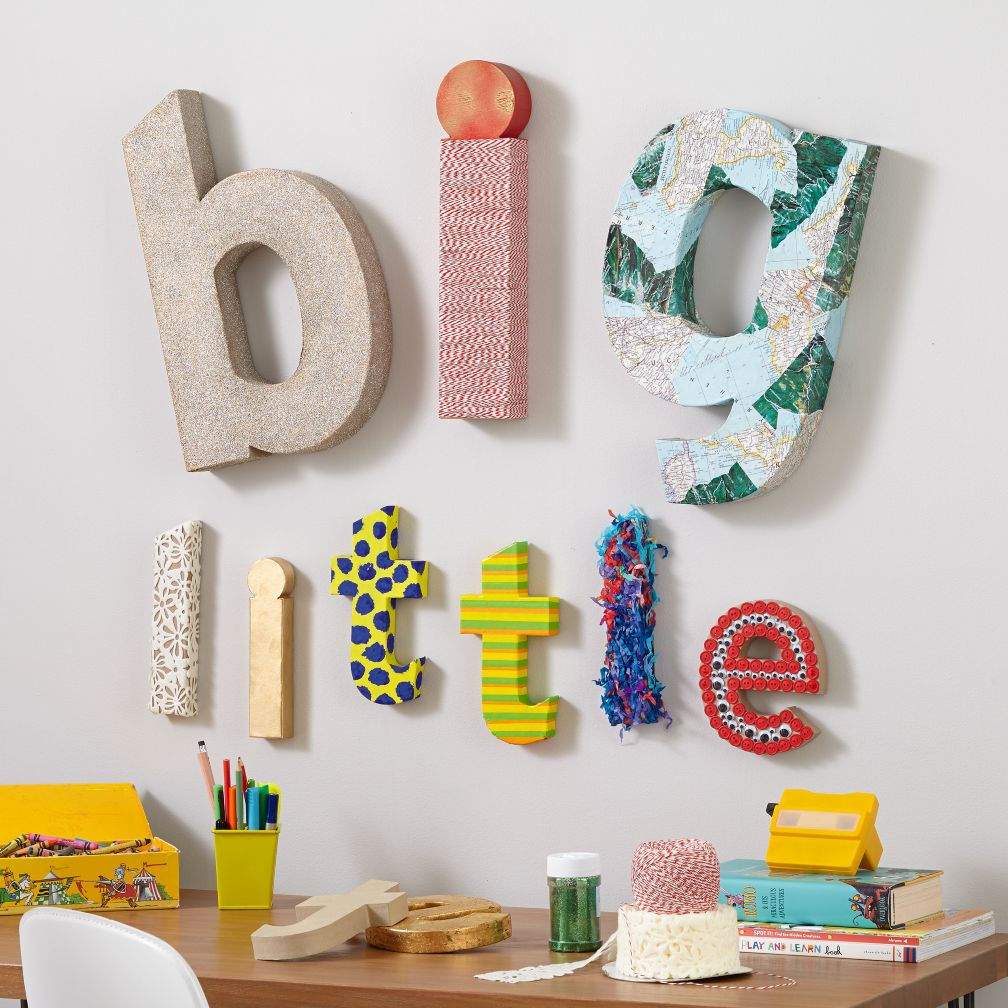 kids arts crafts large crafty paper letter the land of nod