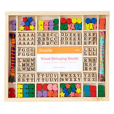 Wood Stringing Beads Set