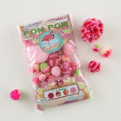 Flamingo Pink Pom Pom Craft Kit