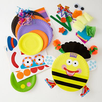 Paper Plate Bugs Set