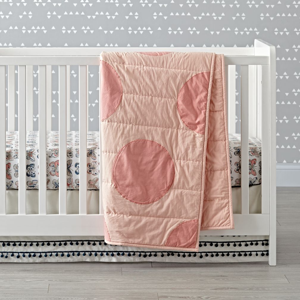 Pink Polka Dot Crib Bedding