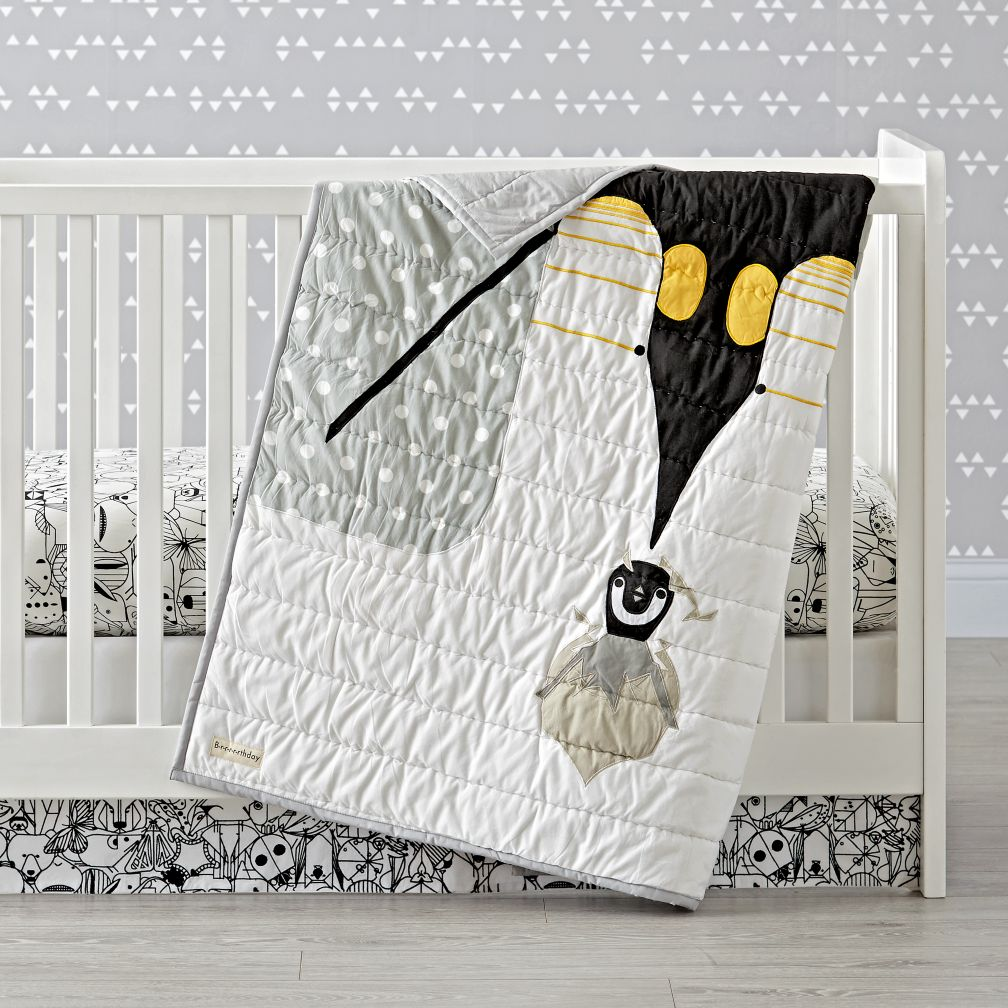 Charley Harper Penguin Crib Bedding