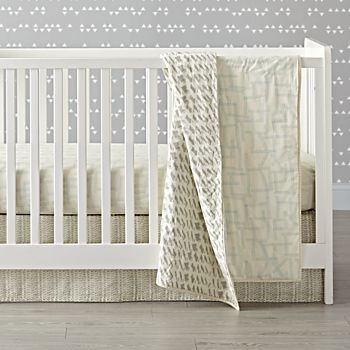 Daily Sketch Blue Crib Bedding (3-Piece Set)