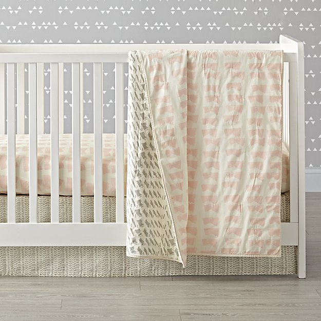 Daily Sketch Pink Crib Bedding (3-Piece Set)