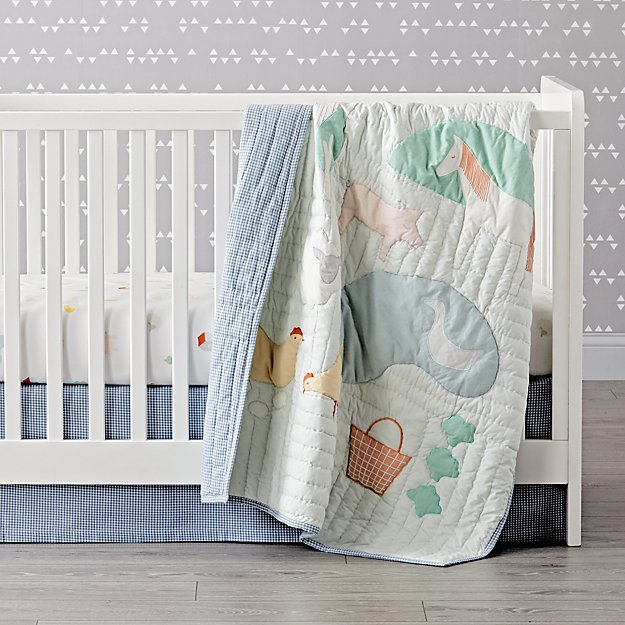 Farm Animal Crib Bedding (3-Piece Set)