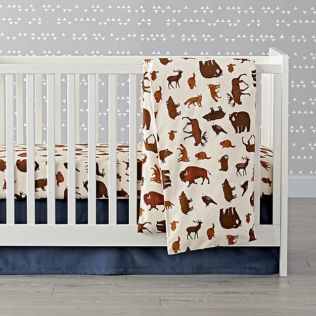 Organic Animal Flannel Crib Bedding