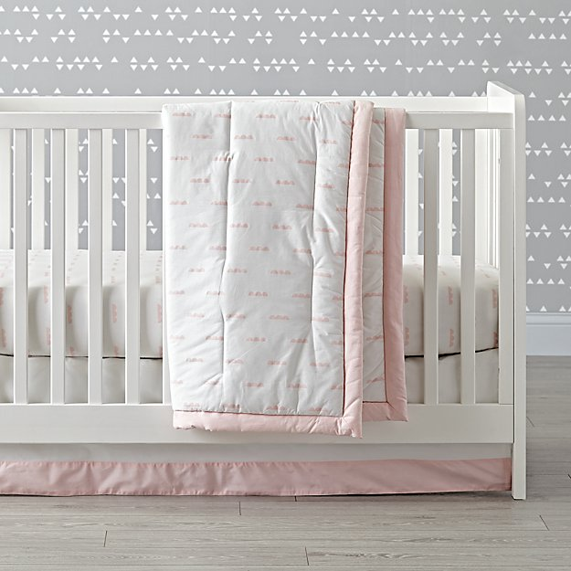 Iconic Pink Clouds Crib Bedding (3-Piece Set)