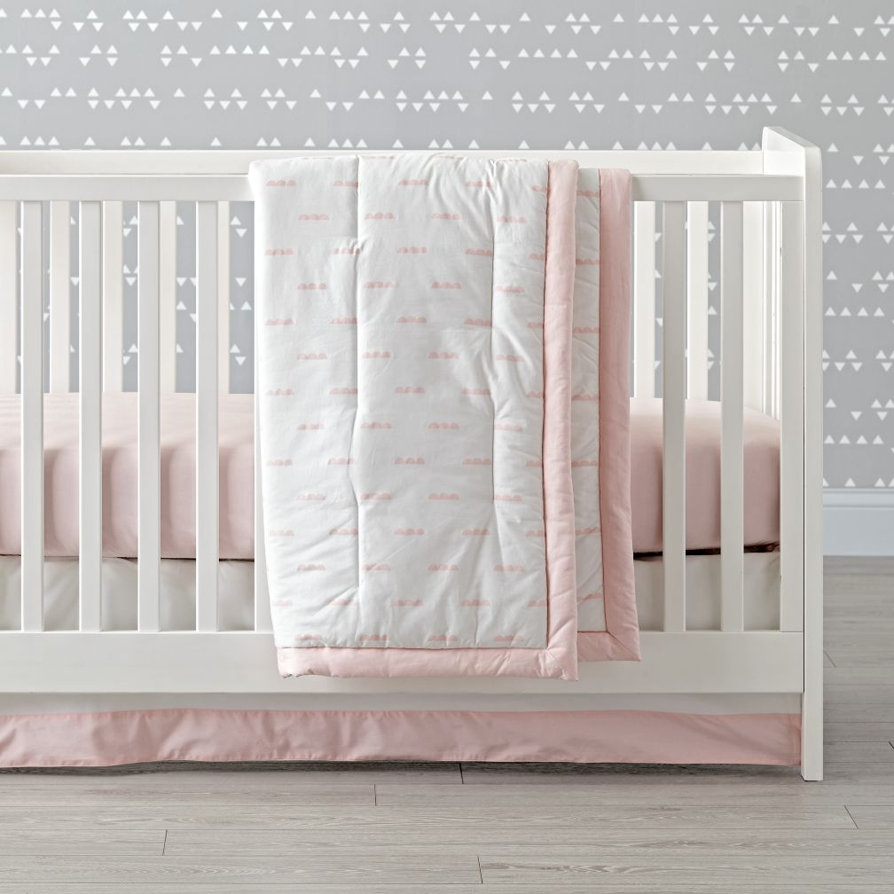 Iconic Pink Clouds Baby Quilt