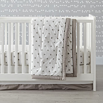 Iconic Grey X Crib Bedding (3-Piece Set)
