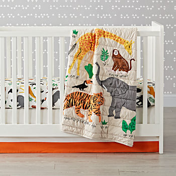 Jungle Animal Crib Bedding (3-Piece Set)