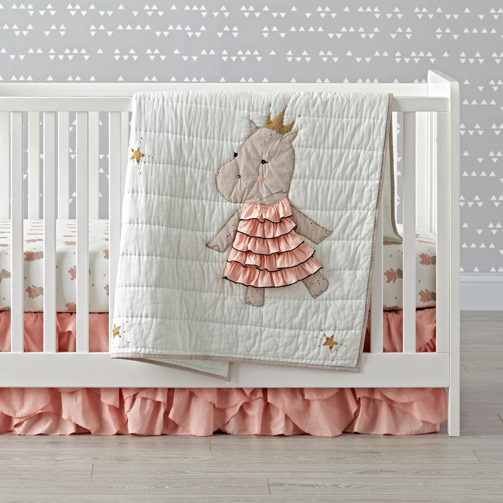 Royal Hippo Baby Quilt The Land Of Nod