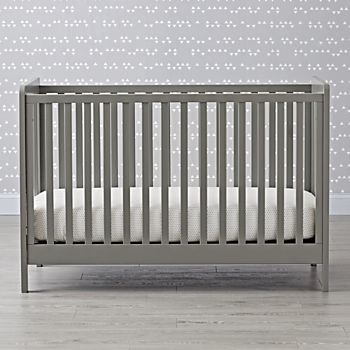 carousel crib grey