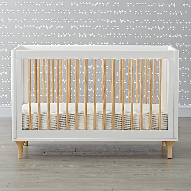 Babyletto Lolly White & Natural 3 in 1 Convertible Crib