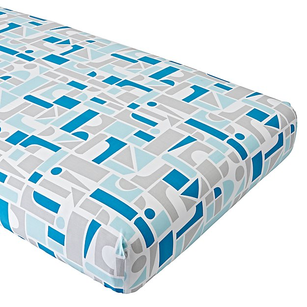 Organic Block Party Crib Fitted Sheet