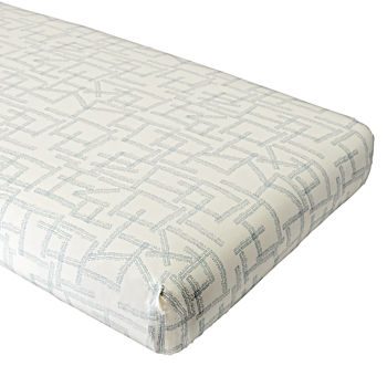 Organic Daily Sketch Blue Crib Fitted Sheet