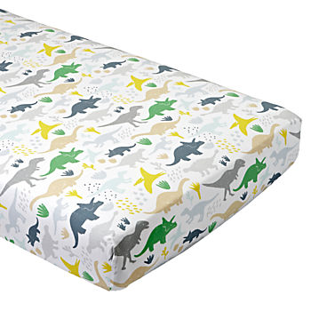 Organic Dinosaur Crib Fitted Sheet