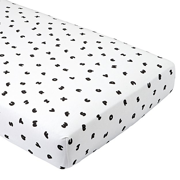 Organic Easy as ABC Jersey Crib Fitted Sheet