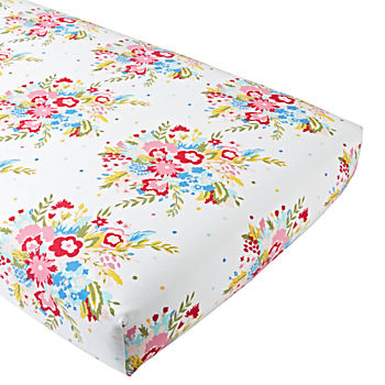 Floral Flannel Crib Fitted Sheet