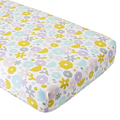 Organic Multicolored Floral Suite Crib Fitted Sheet