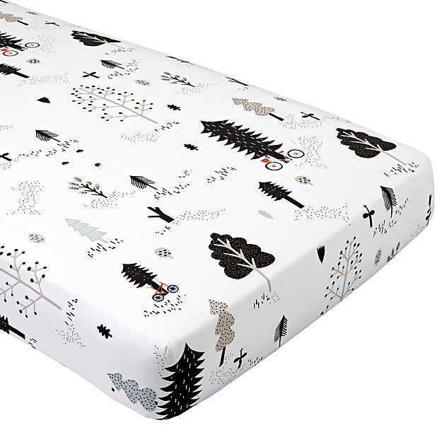 Organic Forest Friends Crib Fitted Sheet