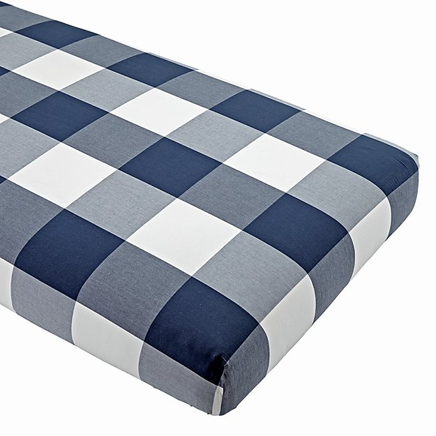 Genevieve Gorder Organic Plaid Crib Fitted Sheet